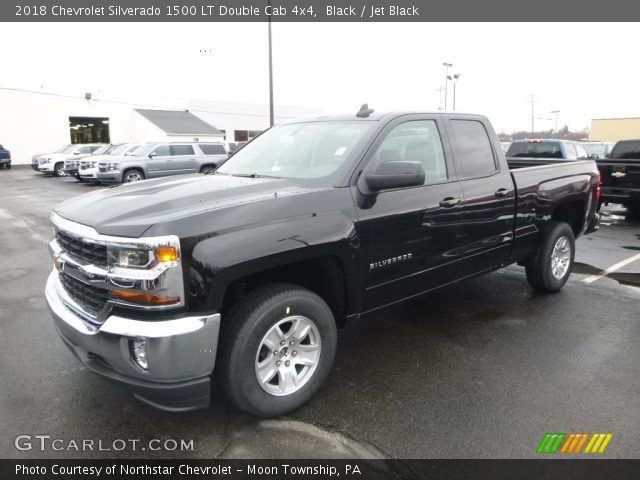 2018 Chevrolet Silverado 1500 LT Double Cab 4x4 in Black