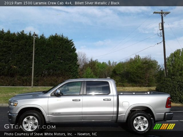 2019 Ram 1500 Laramie Crew Cab 4x4 in Billett Silver Metallic