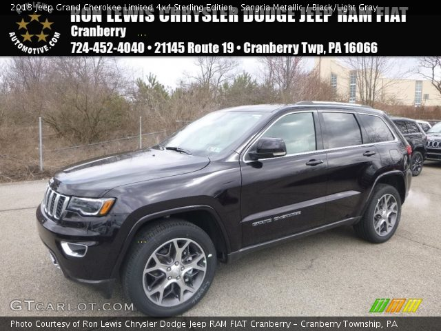 2018 Jeep Grand Cherokee Limited 4x4 Sterling Edition in Sangria Metallic