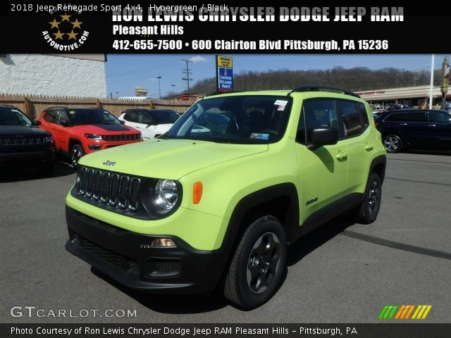 2018 Jeep Renegade Sport 4x4 in Hypergreen