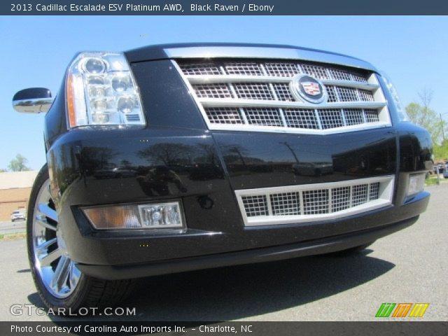 2013 Cadillac Escalade ESV Platinum AWD in Black Raven