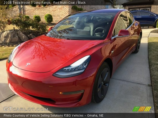 2018 Tesla Model 3 Long Range in Red Multi-Coat
