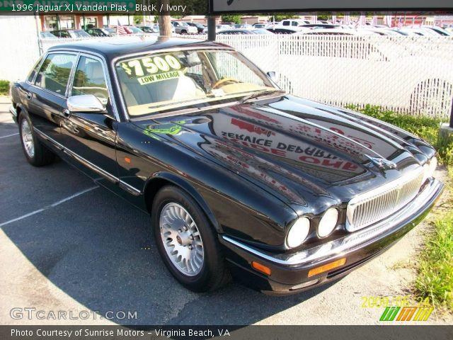 black 1996 jaguar xj vanden plas ivory interior. Black Bedroom Furniture Sets. Home Design Ideas