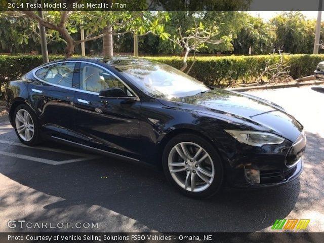 2014 Tesla Model S  in Blue Metallic
