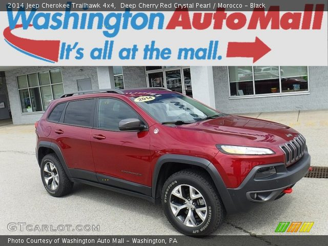 2014 Jeep Cherokee Trailhawk 4x4 in Deep Cherry Red Crystal Pearl