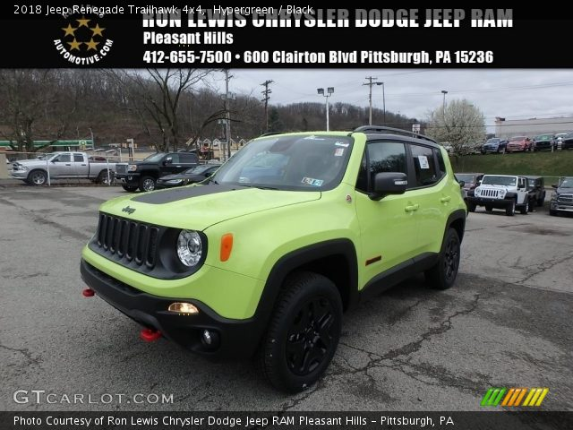 2018 Jeep Renegade Trailhawk 4x4 in Hypergreen