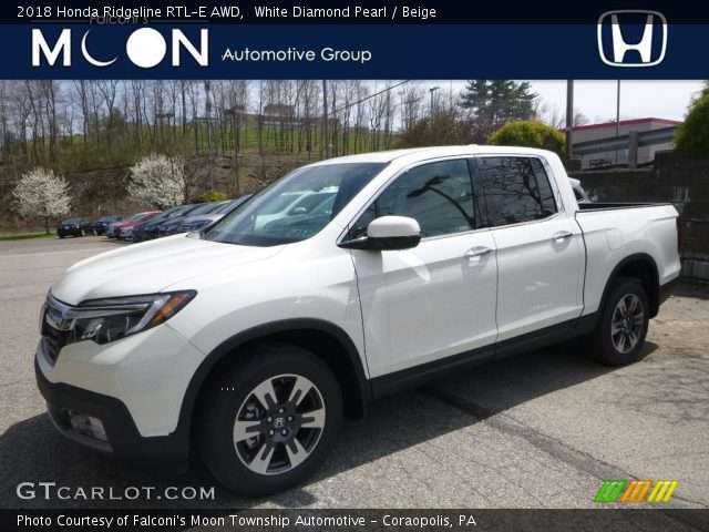 2018 Honda Ridgeline RTL-E AWD in White Diamond Pearl