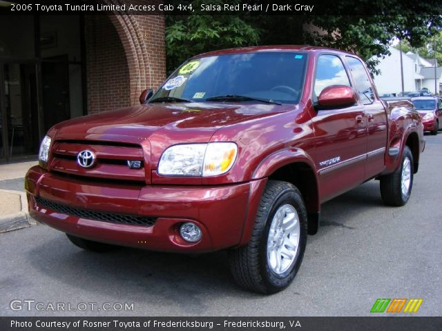 salsa red pearl 2006 toyota tundra limited access cab 4x4 dark gray interior. Black Bedroom Furniture Sets. Home Design Ideas