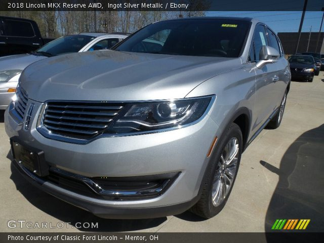 2018 Lincoln MKX Reserve AWD in Ingot Silver Metallic