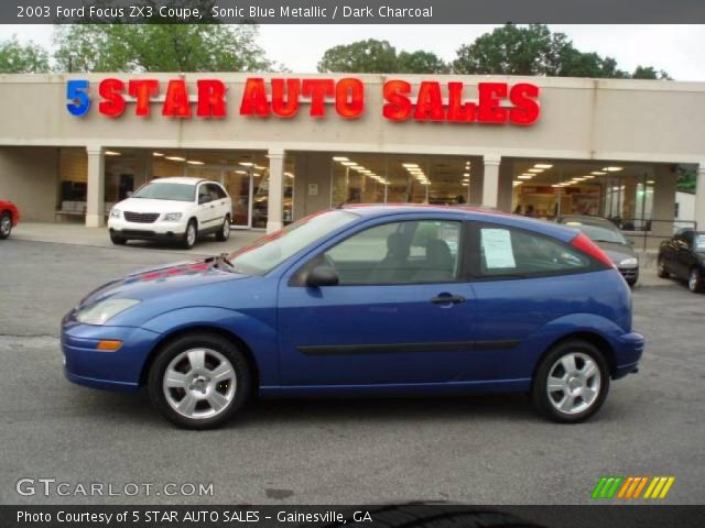 sonic blue metallic 2003 ford focus zx3 coupe dark. Black Bedroom Furniture Sets. Home Design Ideas
