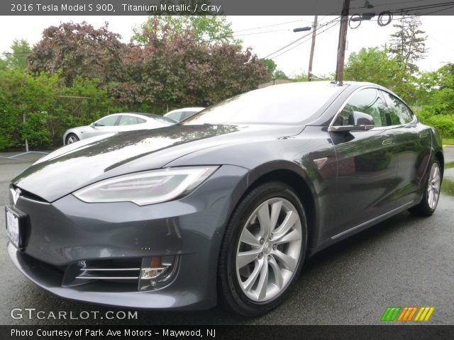 2016 Tesla Model S 90D in Titanium Metallic