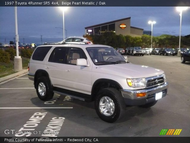 beige pearl metallic 1997 toyota 4runner sr5 4x4 oak interior vehicle. Black Bedroom Furniture Sets. Home Design Ideas