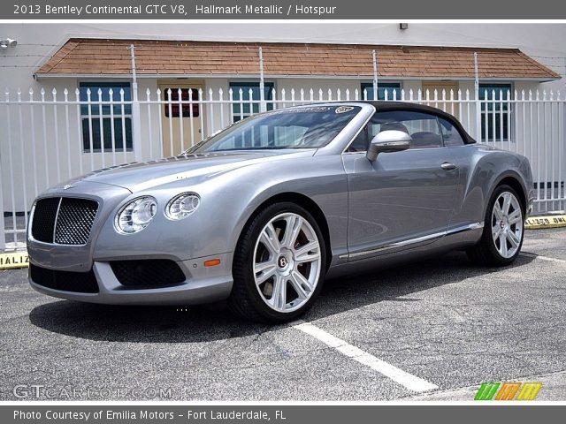 2013 Bentley Continental GTC V8  in Hallmark Metallic