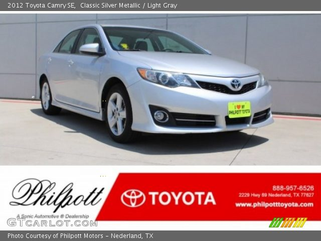 2012 Toyota Camry SE in Classic Silver Metallic