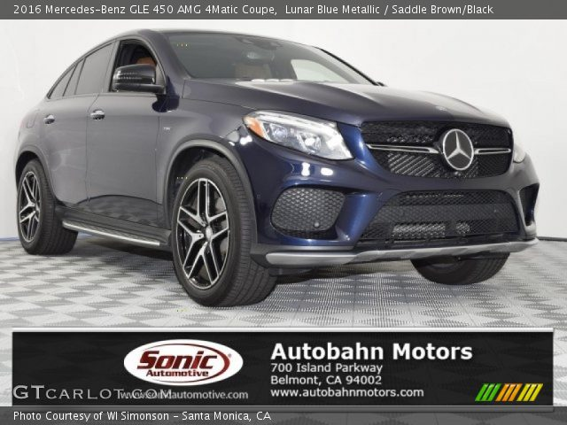 2016 Mercedes-Benz GLE 450 AMG 4Matic Coupe in Lunar Blue Metallic