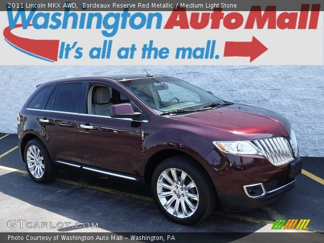 2011 Lincoln MKX AWD in Bordeaux Reserve Red Metallic