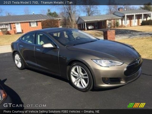2015 Tesla Model S 70D in Titanium Metallic