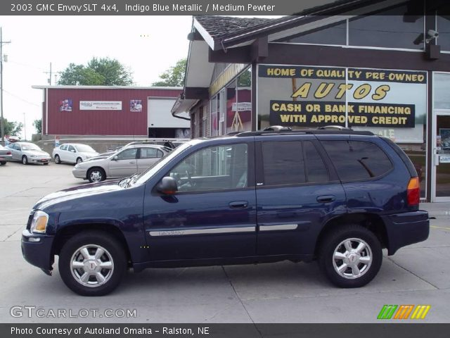 indigo blue metallic 2003 gmc envoy slt 4x4 medium. Black Bedroom Furniture Sets. Home Design Ideas