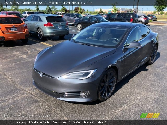 2016 Tesla Model S P100D in Midnight Silver Metallic