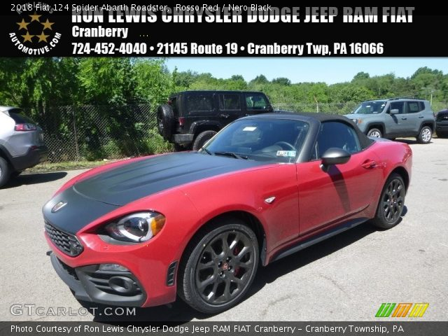 2018 Fiat 124 Spider Abarth Roadster in Rosso Red