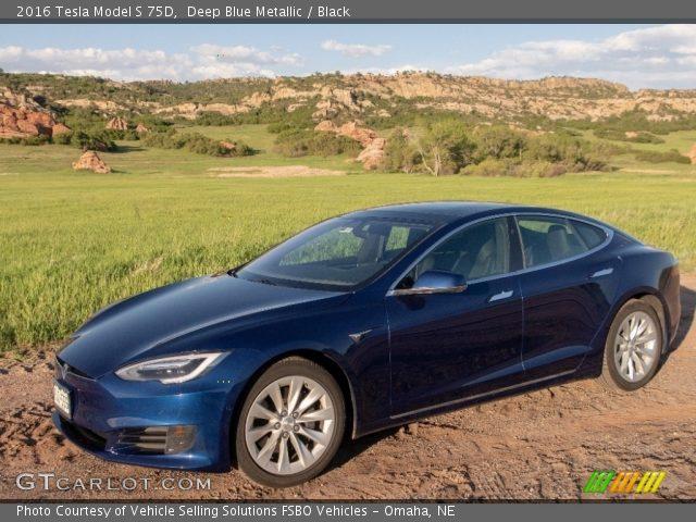 2016 Tesla Model S 75D in Deep Blue Metallic