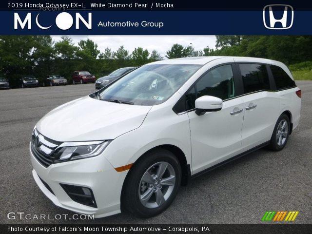 2019 Honda Odyssey EX-L in White Diamond Pearl