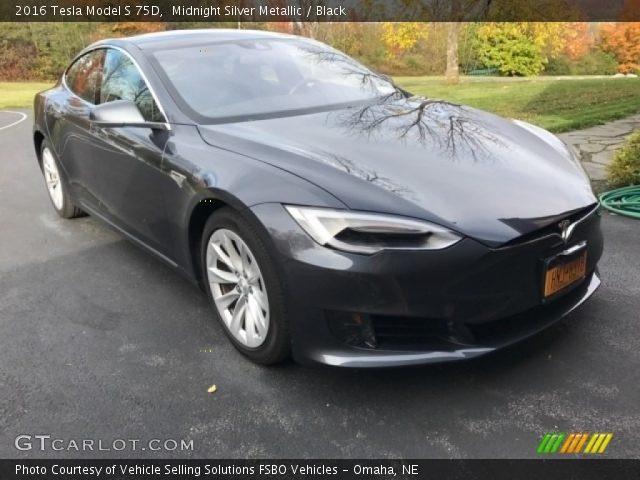2016 Tesla Model S 75D in Midnight Silver Metallic