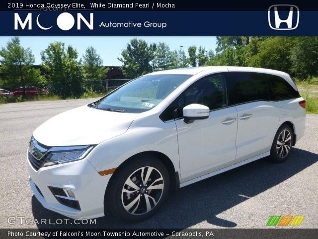 2019 Honda Odyssey Elite in White Diamond Pearl