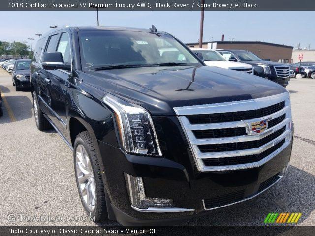 2018 Cadillac Escalade ESV 4WD in Black Raven