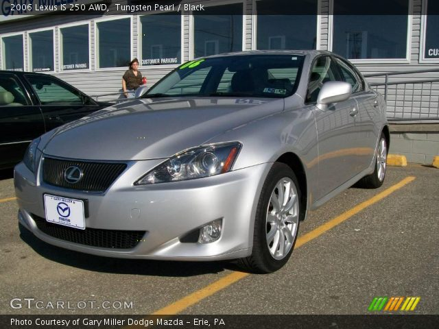 tungsten pearl 2006 lexus is 250 awd black interior vehicle archive 12805857. Black Bedroom Furniture Sets. Home Design Ideas