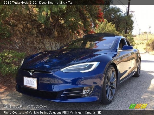 2016 Tesla Model S 60 in Deep Blue Metallic