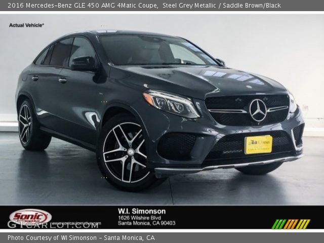 2016 Mercedes-Benz GLE 450 AMG 4Matic Coupe in Steel Grey Metallic
