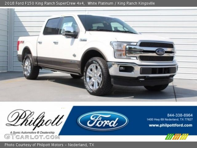 2018 Ford F150 King Ranch SuperCrew 4x4 in White Platinum