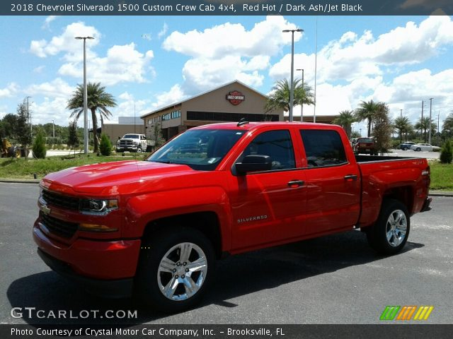 2018 Chevrolet Silverado 1500 Custom Crew Cab 4x4 in Red Hot