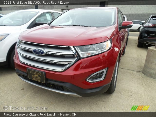 2018 Ford Edge SEL AWD in Ruby Red