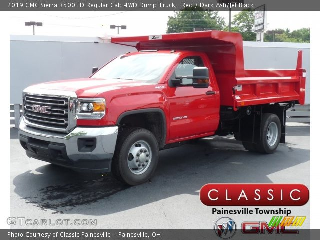 2019 GMC Sierra 3500HD Regular Cab 4WD Dump Truck in Red