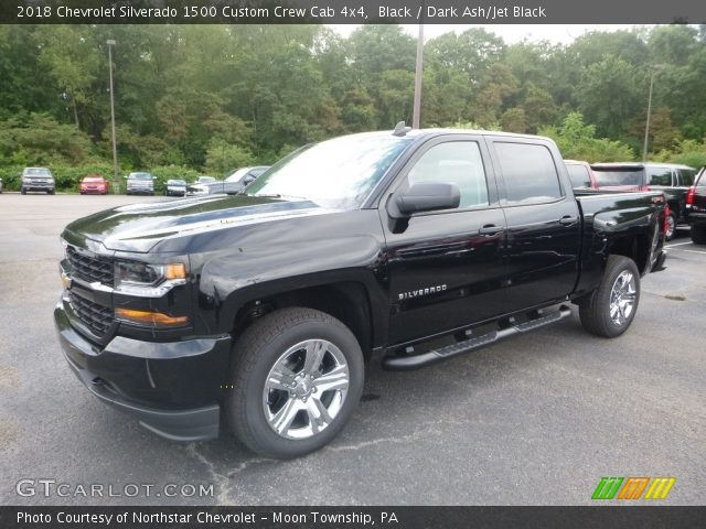 2018 Chevrolet Silverado 1500 Custom Crew Cab 4x4 in Black