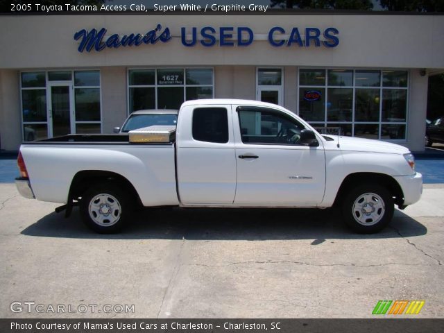 super white 2005 toyota tacoma access cab graphite. Black Bedroom Furniture Sets. Home Design Ideas