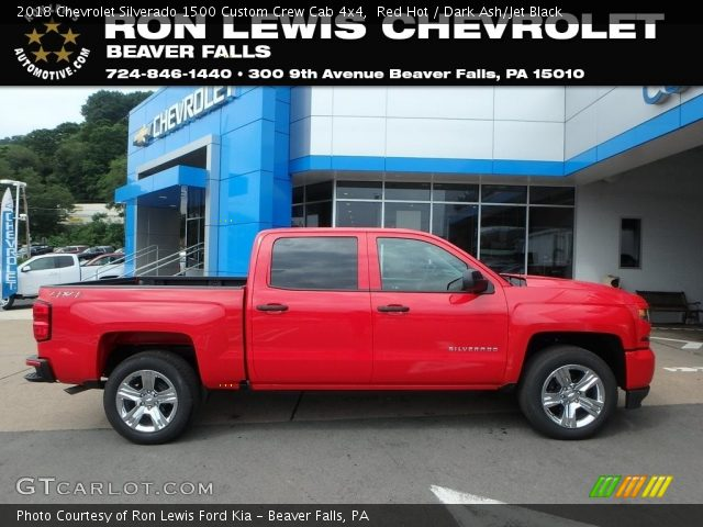 2018 Chevrolet Silverado 1500 Custom Crew Cab 4x4 in Red Hot