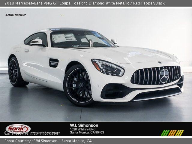 2018 Mercedes-Benz AMG GT Coupe in designo Diamond White Metallic