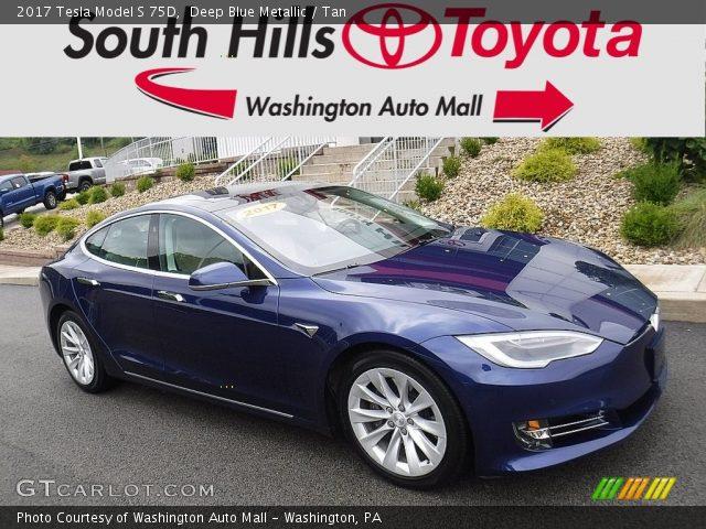 2017 Tesla Model S 75D in Deep Blue Metallic