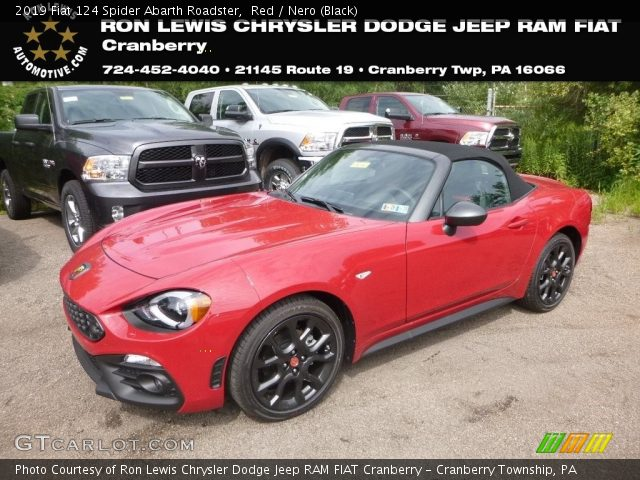2019 Fiat 124 Spider Abarth Roadster in Red
