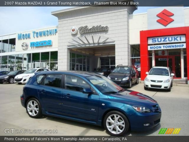 phantom blue mica 2007 mazda mazda3 s grand touring hatchback black interior. Black Bedroom Furniture Sets. Home Design Ideas