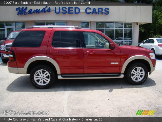 redfire metallic 2007 ford explorer eddie bauer camel interior vehicle. Black Bedroom Furniture Sets. Home Design Ideas