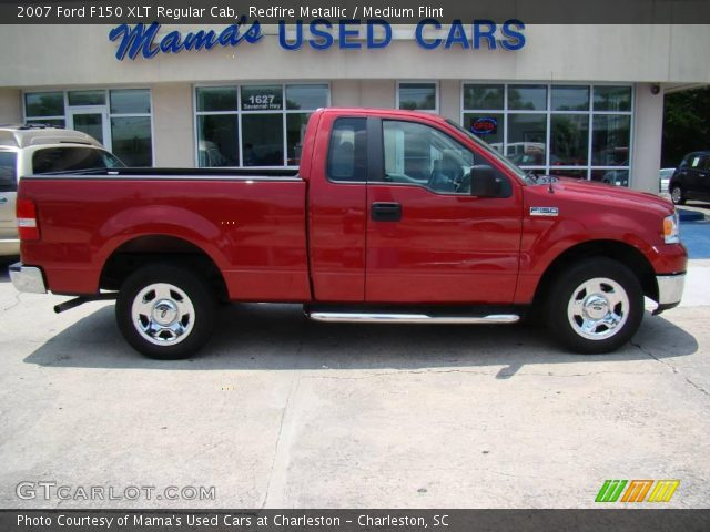 redfire metallic 2007 ford f150 xlt regular cab medium flint interior. Black Bedroom Furniture Sets. Home Design Ideas