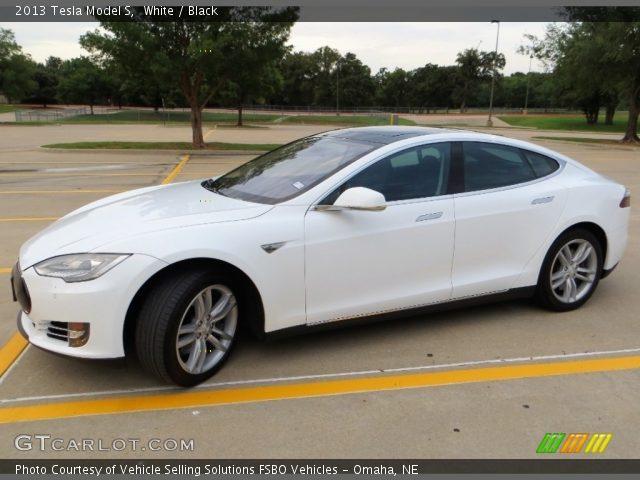 2013 Tesla Model S  in White