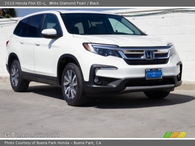 2019 Honda Pilot EX-L in White Diamond Pearl