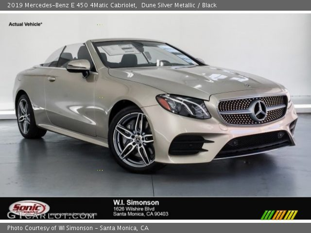 2019 Mercedes-Benz E 450 4Matic Cabriolet in Dune Silver Metallic