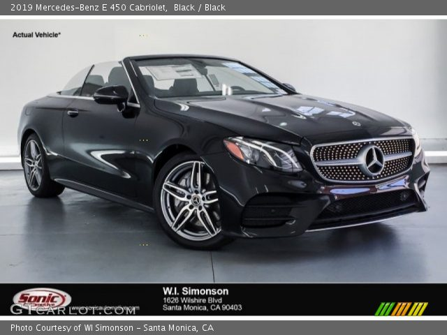 2019 Mercedes-Benz E 450 Cabriolet in Black