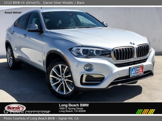 2019 BMW X6 sDrive35i in Glacier Silver Metallic